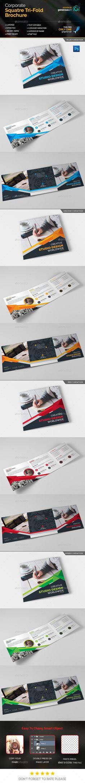 Creative Square Tri-Fold Brochure Template PSD. Download here: http://graphicriver.net/item/creative-square-trifold/15864087?ref=ksioks