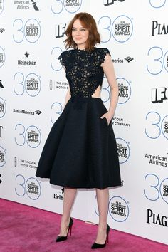 Emma Stone in Christian Louboutin 'So Kate' Pumps