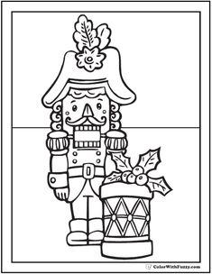 Happy Nutcracker Coloring Sheet Suite Pages Drum 4143