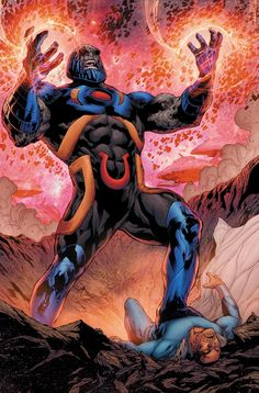 Post Flashpoint Darkseid vs The Sentry - Battles - Comic Vine Marvel Comics, Arte Dc Comics, Marvel Comic Books, Comic Books Art, Comic Art, Book Art, Darkseid Dc, Hulk, Val Zod
