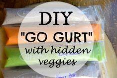 """DIY """"Go Gurt"""" with hidden veggies"""