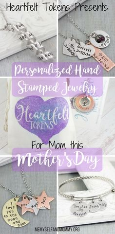 I am so excited to share this beautiful Etsy shop with all of you! I am working with Melissa from Heartfelt Token's to bring you Personalized Hand Stamped Jewelry for Mom this Mother's day! And if ya stick around to the bottom of this post there might just be a giveaway down there. Disclaimer: Melissa was kind enough…