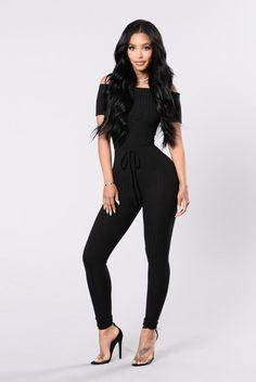 324839ea788baf Maria Maria Jumpsuit - Black. ModeposenModische KleiderLange  OverallsOveralls Für FrauenSchwarzer OverallHoseFeminine ...