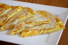 Breakfast Quesadillas: Not a bad idea. It would be really easy to throw other stuff in it too #Recipe #Quesadilla