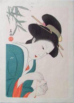 Hirezaki Eiho - Bijin Sewing