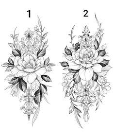 """Instattoo2® 🏠 on Instagram: """"Floral ❤️ Qual dessas vocês fariam 💐 Marquem os amigos 🤩 Feito por @dobby.house 👏🏻👏🏻 Gostaram? 😍 Deixe seu comentário. . . . . .…"""" Floral Tattoo Design, Mandala Tattoo Design, Henna Tattoo Designs, Flower Tattoo Designs, Mandala Flower Tattoos, Flower Tattoo Drawings, Flower Tattoo Back, Lion Tattoo With Flowers, Mandala Rosa"""
