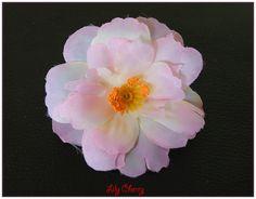Fleur artificelle petite fleur de pêcher nuance dégrader rose clair, écru barrette cheveux x1 : Décoration florale par lilycherry
