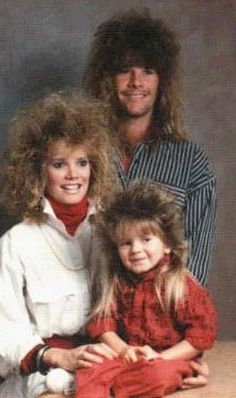 80's Hair Family Portrait