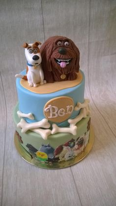 The secret life of pets - Cake by Novanka Animal Birthday, Dog Birthday, Birthday Cakes, Birthday Ideas, Dog Cakes, Cupcake Cakes, Dog Themed Parties, Puppy Cake, Animal Cakes