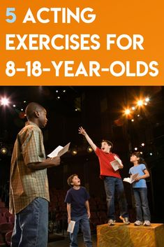 Five Acting Exercises for - Theatre Nerds Acting Lessons, Acting Class, Acting Tips, Art Lessons, Acting Career, Drama For Kids, Act For Kids, Acting Games For Kids, Improv Games For Kids