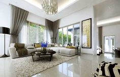 The Glades, Putra Heights. Living hall artist impression.