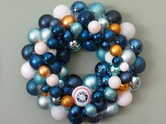 TAMPA BAY Rays Baseball Ornament Wreath I would buy this before I would make it.  It's alot of work.