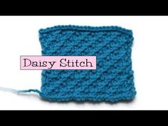 Fancy Stitch Combos - Daisy Stitch  ... From Very Pink Knits