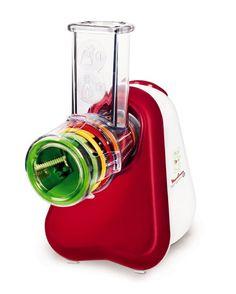 Moulinex DJ755G Fresh Express+ Tritatutto Multifunzione, 5 Funzioni, Rosso/Bianco
