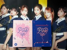 APINK autographed 2017 mini 6th album Pink UP CD korean +signed poster 072017
