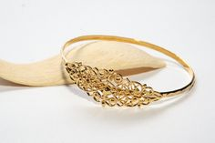 Sale  Gold Plated Lattice Bracelet Elegant by LuluMayJewelry, $34.90