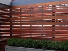 Fence Me In: Planning, Materials, Design and Maintenance Tips on DIY Backyard Borders, Craig Jenkins-Sutton Modern Wood Fence, Wood Fence Design, Privacy Fence Designs, Privacy Fences, Diy Fence, Backyard Fences, Backyard Landscaping, Landscaping Ideas, Fence Ideas