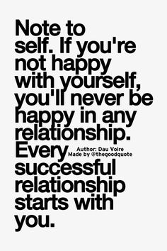 Be happy with yourself.....