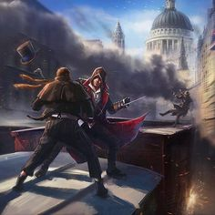 Assassin's Creed Syndicate - The Train Raid By Fernando Acosta  #AssassinsCreed #Ubisoft #ConceptArt #Gaming #Xbox #PC #PS4 #GameArt #Illustration #London #England #History