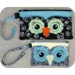 In The Hoop :: Purses & Wristlets :: Owl Wristlet 5x7 - Embroidery Garden In the Hoop Machine Embroidery Designs