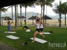 Relaxando corpo e alma a beira mar!! #VemProPortobello #Yoga
