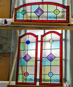 Stained glass windows   Light Leaded Designs   Rossendale Victorian Stained Glass Panels, Modern Stained Glass, Stained Glass Door, Making Stained Glass, Mosaic Projects, Stained Glass Projects, Window Maker, Leadlight Windows, Selling Crafts Online