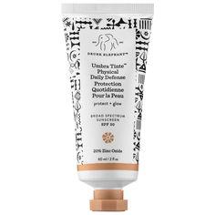 Drunk Elephant's Umbra Tinte™ Physical Daily Defense Broad Spectrum Sunscreen SPF 30.
