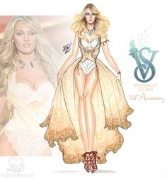 VS 20th Anniversary Sketch ✨ #CandiceSwanepoel - @VictoriasSecret Shipwrecked 2013 © Sophie Whitely 2015 #FBF