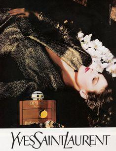 Linda Evangelista for YSL Opium, 1998.