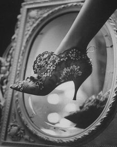 1950's Evening boot designed by Roger Vivier for Maison Christian Dior