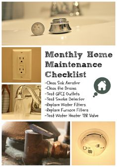 Protect the value of your home with this monthly home maintenance checklist. home maintenance Household Tips Idea Box by Organized Clutter Home Renovation, Home Maintenance Checklist, Diy Regal, Clutter Organization, Organizing Life, E Mc2, Diy Home Repair, Home Management, Up House