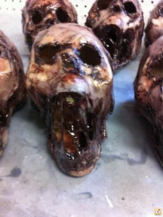 Dollar store skulls turned evil - HauntForum