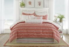 Harbor House Brice Full Comforter Set by Harbor House. $89.99. Coordinates with Brice bedding collection; Made in China. Crinkled for top of bed; bright Coral to create a warm bedding. Sewn from 100-percent cotton; machine wash. 80-by-90-Inch comforter; 54-by-75-Inch bedskirt; 20-by-26-Inch shams. 100% Cotton. Full set includes comforter, bedskirt, and two standard-size shams. Harbor House Brice takes warm Coral colors and brings it to a fresh and inviting ensemble for the b...