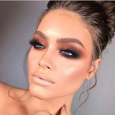 Women is close to make up. They crazily love to do make up since it adds attractiveness of the whole face. Surely make up can bring women more beautiful and adorable. There are some smart…Read Glam Makeup, Eye Makeup Tips, Makeup Goals, Makeup Inspo, Makeup Inspiration, Beauty Makeup, Hair Makeup, Makeup Ideas, Makeup Tutorials