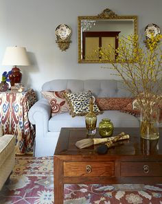 Traditionally inspired Peid a Terre for a CT couple whose 40th wedding anniversary gift to each other was this apt.  Love!