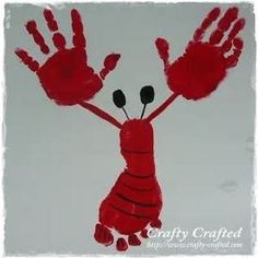 handprint and footprint lobster
