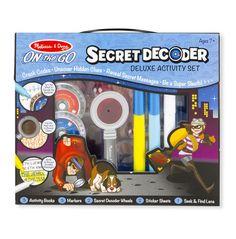 Melissa and Doug Kids' Secret Decoder Deluxe Activity Set Travel Activities, Book Activities, Activity Books, Spy Technology, Magic Revealed, Melissa & Doug, Baby Clothes Shops, Games For Kids, Baby Shop