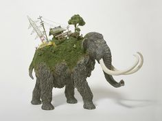 Miniature Worlds Emerge On Top of Wooden Animals - My Modern Metropolis