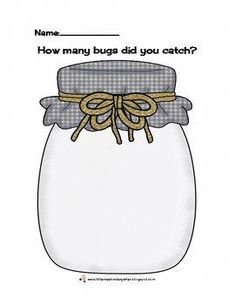 This is a freebie Bug Counting Jar recording page for children to count and record in pictures, words or both. In my class we use bug stamps and wri. Speech Language Therapy, Speech And Language, Speech Therapy, Miss Kindergarten, Kindergarten Activities, Speech Activities, Therapy Activities, Teaching Numbers, Jar Art