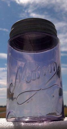Beautiful...❤️...via FB... Antique Bottles, Bottles And Jars, Canning Jars, Mason Jars, Vintage Jars, Diy Bottle, Ball Jars, Tins, Fruit