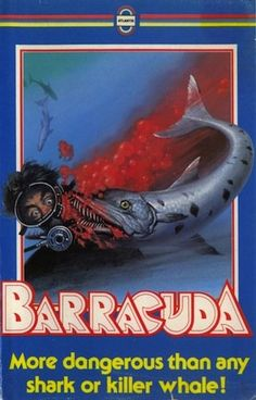 barracuda 1978 film | Barracuda Awesomely Bad '80s VHS Horror Movie Cover Art - Worst Video ...