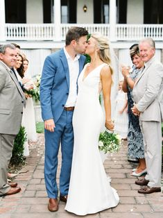 This Family-Focused Wedding Weekend Included a Southern Brunch and Reception Cruise Wedding Groom Attire, Summer Wedding Attire, Wedding Weekend, Wedding Dresses, Ashley Brown, Summer Centerpieces, Wedding Inspiration, Wedding Ideas, Light Photography