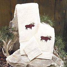 Moose towel set by Black Forest Decor