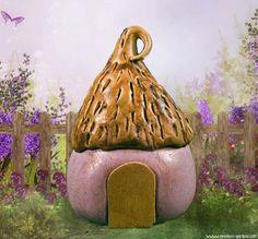 Miniature Pippin Fairy House