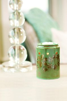 #WarmerWednesday features #MetalPetal <3 Welcome #spring as hand-painted #pewter #flowers and a dainty #butterfly flutter across a sea foam background. Ask me about placing an order or visit www.justawickaway.com #JustAWickAway #Scentsy #ScentsyWarmer #Spring #NewCatalog