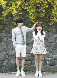 couple, kfashion, and korean kép Ulzzang Couple, Ulzzang Girl, Korean Couple, Korean Girl, Kawaii, Short Couples, Top Mode, Wedding Couple Poses Photography, Pre Wedding Photoshoot