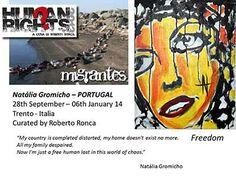 Human Rights 2013. Artist Natalia Gromicho in Italy representing Portugal | Yareah Magazine