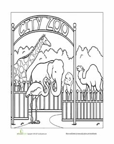Worksheets: Paint the Town: Zoo