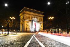 Long Exposure Shot on Place de L'Etoile