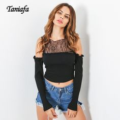d0039a6bd47 Women Off shoulder Sweater Lace Crop Top short femininity jumper Autumn  Winter Pullovers Sweaters Knitting female cardigan-in Shrugs from Women s  Clothing ...